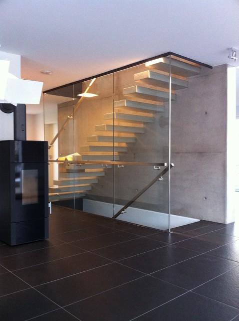 Einfamilienhaus mit doppelgarage modern  Neubau eines Einfamilienhauses mit Doppelgarage sowie Außenanlage