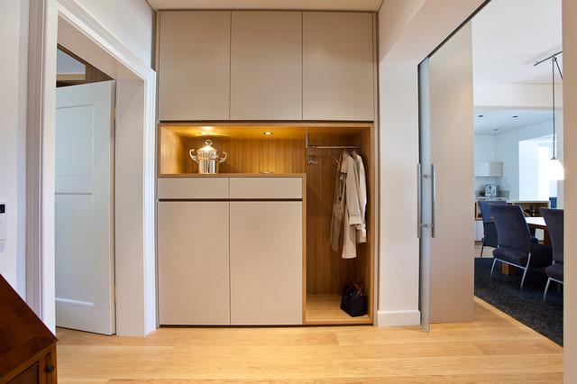 sanierung wohngeb ude modern flur m nchen von xs architekten. Black Bedroom Furniture Sets. Home Design Ideas