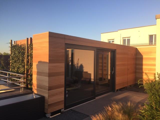 au ensauna modern garten other metro von hesselbach gmbh pools wellness. Black Bedroom Furniture Sets. Home Design Ideas