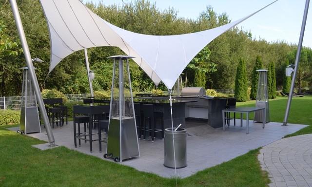 Outdoor Küche Im Gartenhaus : Firmengelände mit outdoorküche modern garten von plan germann