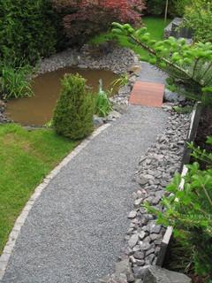 Gartenanlage mit schieferplatten saarland - Poolbau saarland ...