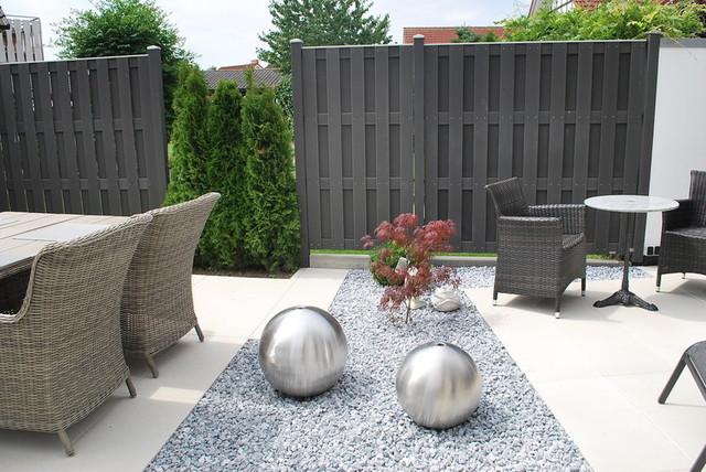 Gartenanlage Modern Gartenanlage Zaun Eingangstreppe Hofeinfahrt