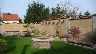 gartenmauer, Garten seite