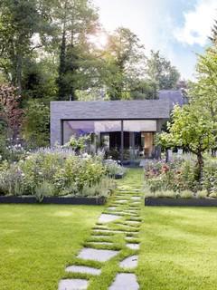 hochbeet mit blumen und weinreben modern garten k ln von garten und landschaftsbau. Black Bedroom Furniture Sets. Home Design Ideas