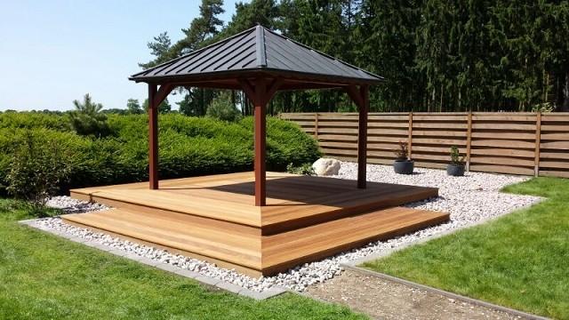 Beautiful Holzterrasse Mit Kupfer Dach Mediterran Garten