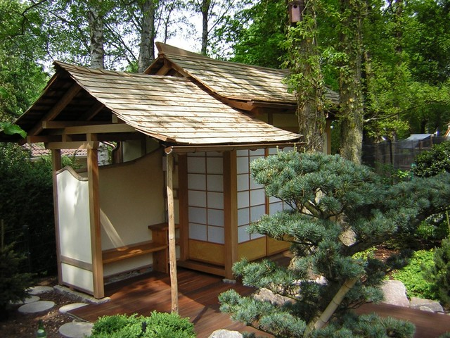 japanisches teehaus japanese teahouse asiatisch garten hamburg von saroshi design of. Black Bedroom Furniture Sets. Home Design Ideas