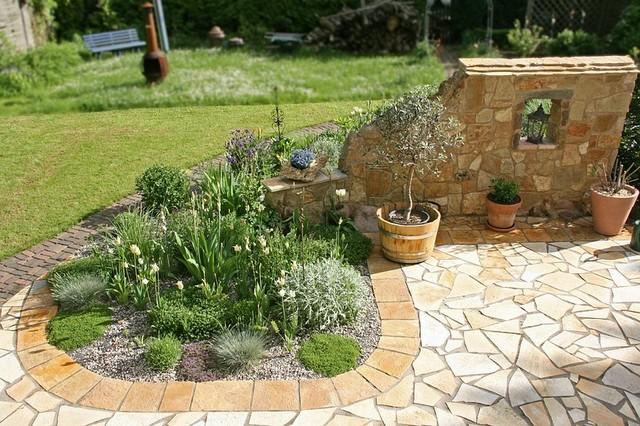 mediterrane gärten, Garten seite
