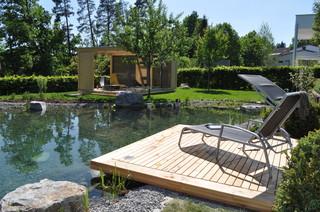 Moderner Garten mit Teich - Ideen für die Gartengestaltung