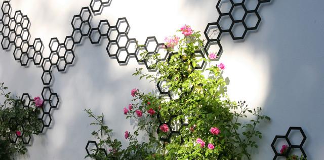 Ganz und zu Extrem Rankgitter / Spalier Metall schwarz für Rosen - Modern - Garten #UD_95
