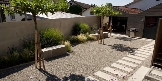 Referenzen   Steingarten Mit Weg Modern Garten