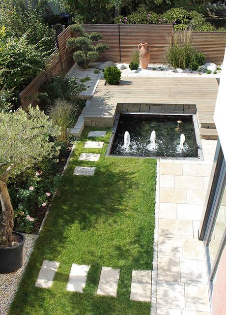 Sichtschutz Mit Holzquerlatten Und T Stahl Garten