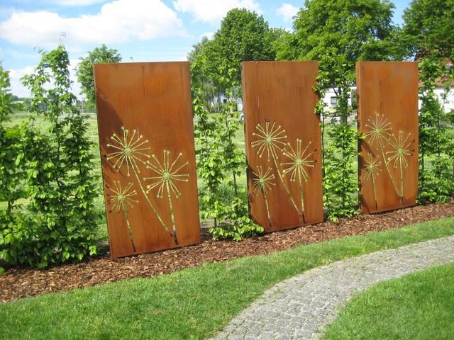 Sichtschutz pusteblume for Gartengestaltung rustikal