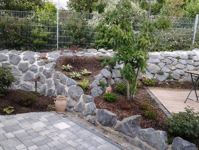 garten steinmauer modern – rekem, Garten Ideen