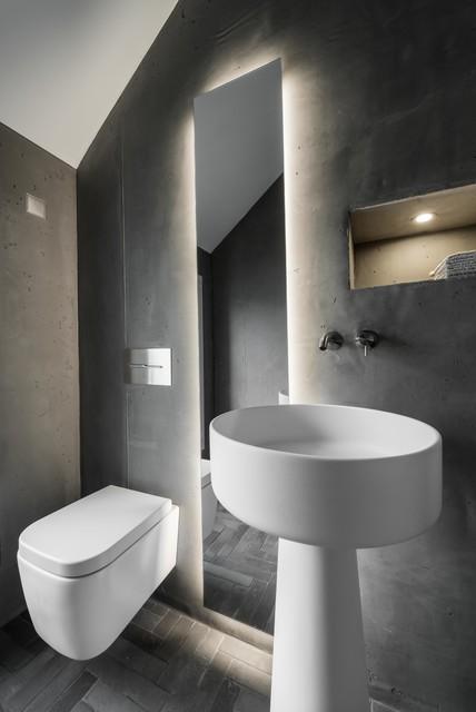 Gäste WC Im Betonlook Modern Cloakroom