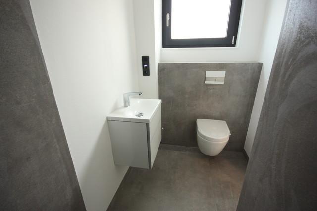 neubau bad wc gro format 120x120 industrial cloakroom. Black Bedroom Furniture Sets. Home Design Ideas