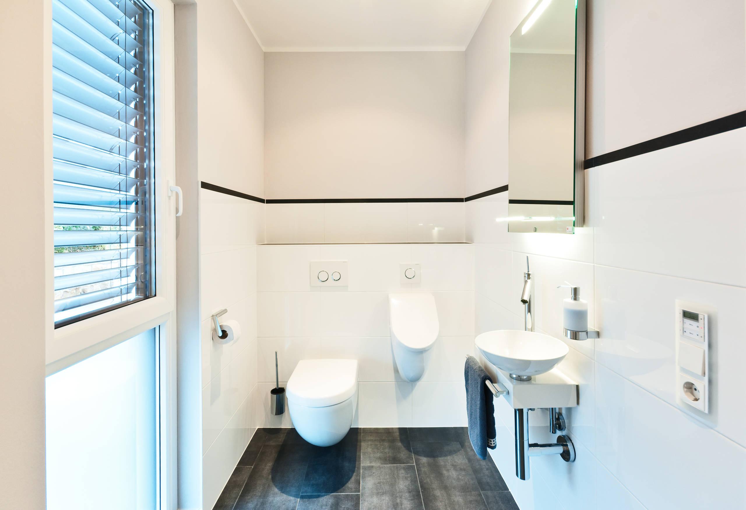 20 Ideen, die jedes halbhoch geflieste Bad aufpeppen