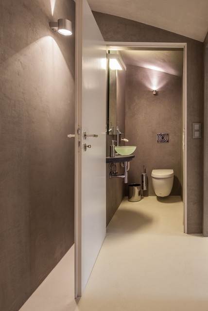 Solo marmorino contemporaneo bagno di servizio - Bagno di servizio ...
