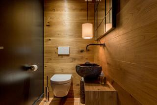 Rustikale Gästetoilette & Gäste-WC: Ideen für Gästebad- und ...