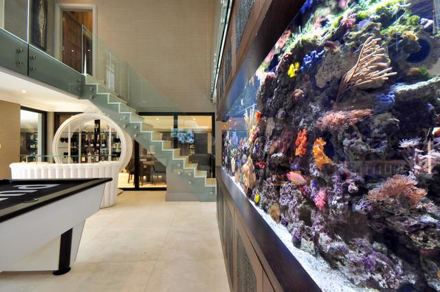 Aquarium Architecture contemporary-family-room