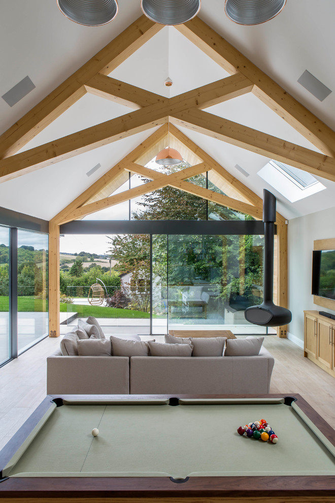 Dramatic Pitched Roof Extension Contemporary Family Room Buckinghamshire By Hollandgreen Architecture Interiors Landscapes