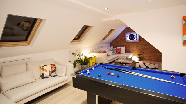 Games Loft Extension Contemporary Family Games Room