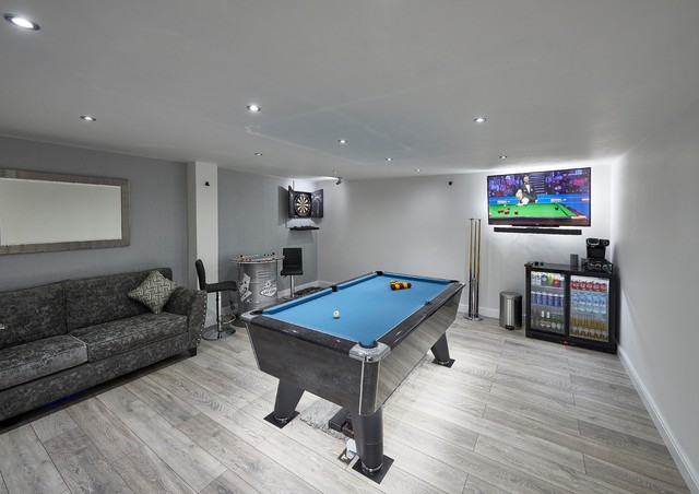 Garage Conversion Into Games Room Modern Games Room Other By Prestige For Your Home Houzz Uk