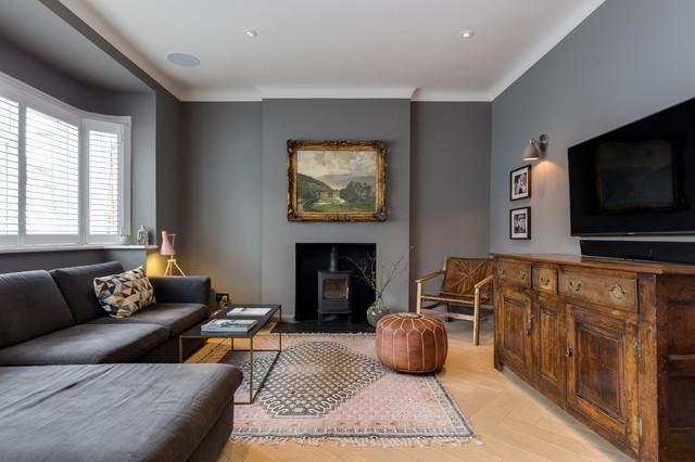 parke rd barnes sw13 klassisch modern wohnzimmer