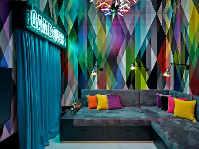 Surrey fun house ecl ctico sala de estar londres for Sala fun house