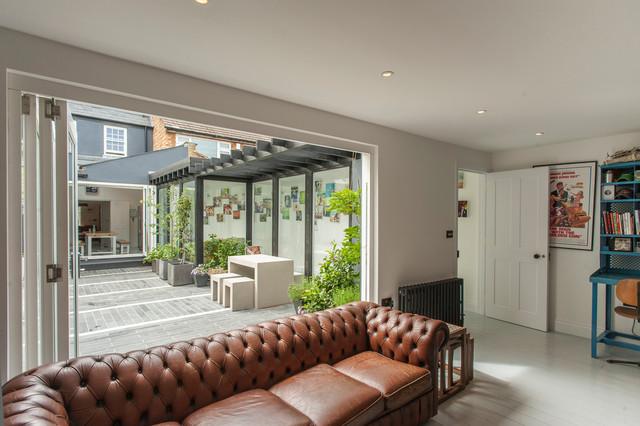 Twickenham green house minimalistisch wohnzimmer for Wohnzimmer john