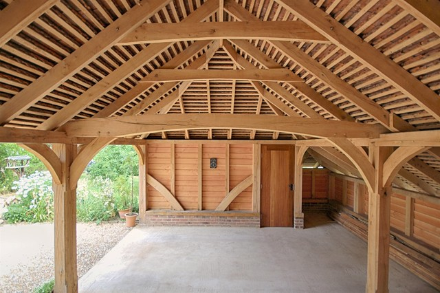 2 bay oak framed classic catslide interior country for Country garage