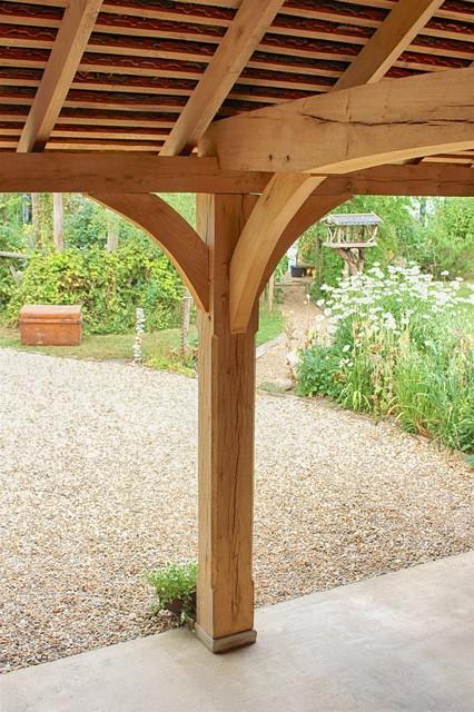 2 bay timber oak framed carport landhausstil garage for 2 bay carport