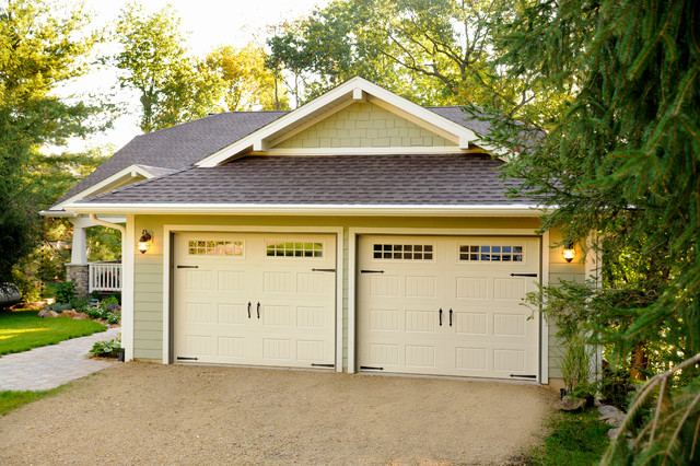 2 car garage traditional garage other by jg for Two car garage doors
