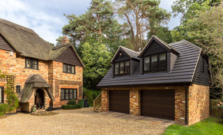 2 Storey Double Garage Camberley Country Garage Surrey By Life Size Architecture Houzz Uk