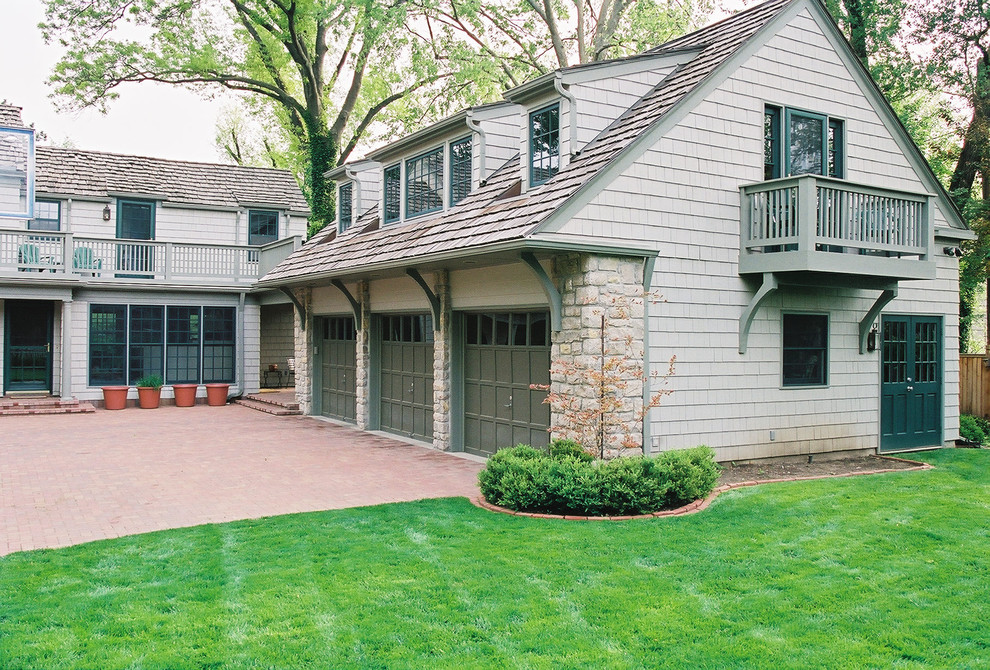 Traditional Garage Kansas City, Carriage House Plans With 3 Car Garage