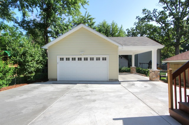 Adding A Carport To Garage Contemporary Garage And