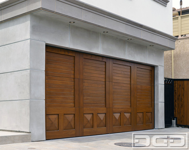 Architectural Wood Garage Door Designed Crafted By