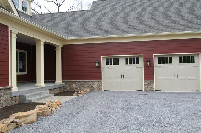 Arts and crafts craftsman garage by foreman builders inc for Arts and crafts garage