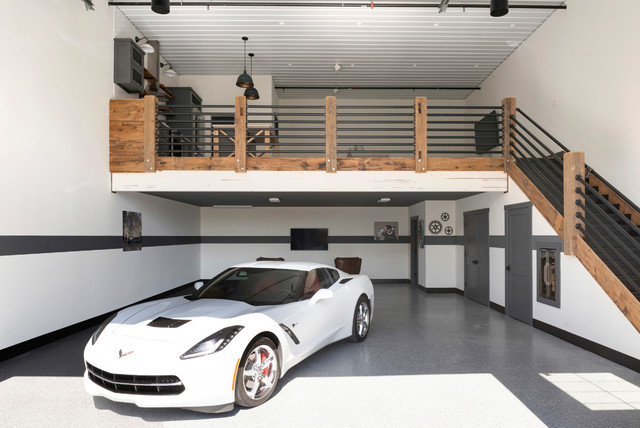 Automotorplex Industrial Garage Minneapolis By Beautiful Chaos Interior Design Styling Houzz Uk