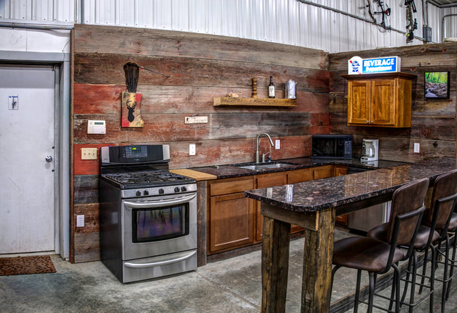 Baraboo Transitional Design Renovation - Rustic - Garage - Other - by Sophiablu Interior Design LLC