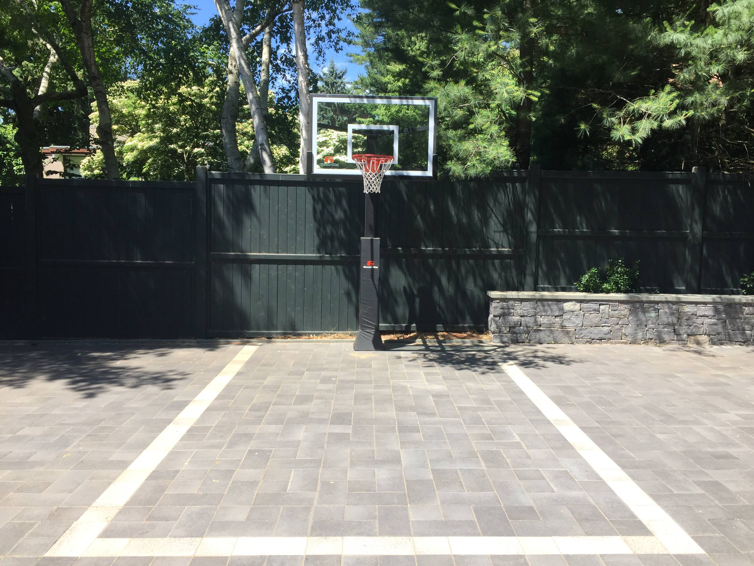 basketball and parking court