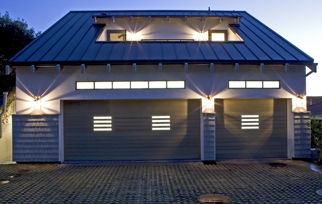 Beach Cottage Compound contemporary-garage-and-shed
