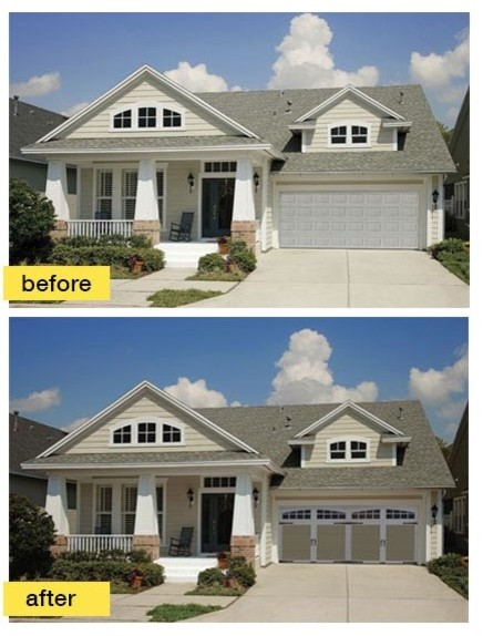 Before and after garage makeovers craftsman exterior for Before and after exterior home makeovers