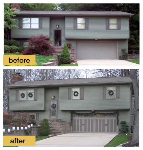 Before And After Garage Makeovers Traditional Exterior