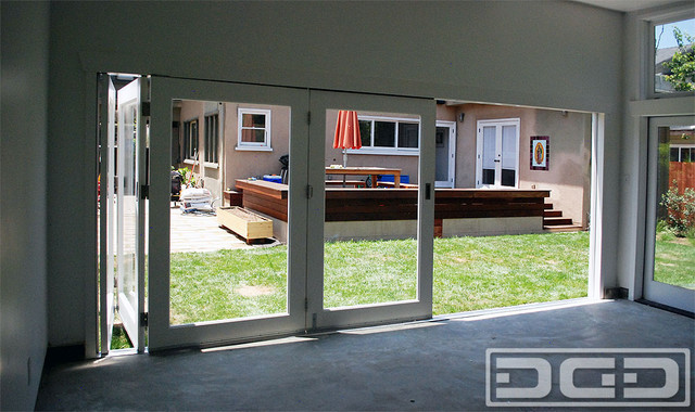 BiFolding Doors CustomMade for a Garage Converted to Home Office