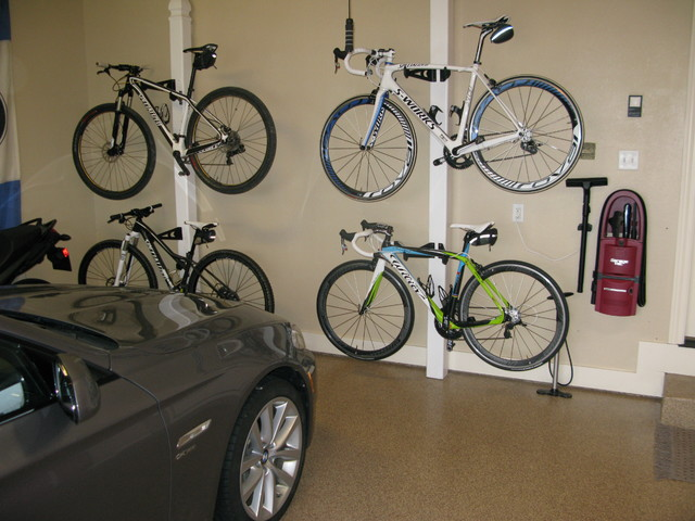 bike brilliant hanger car in ideas two ceiling bicycle with the minimalist garage storage lift