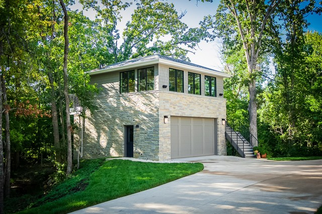 Bois D Arc Transitional Garage Other By Tim Mcmahon Building Company
