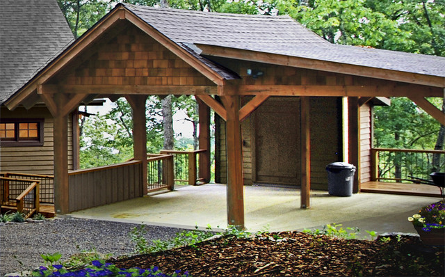 Download carport with storage shed plans pdf cedar curved for Wooden garage plans