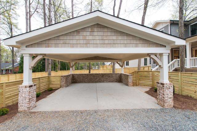 Carport Craftsman Garage Charlotte By Pike Properties