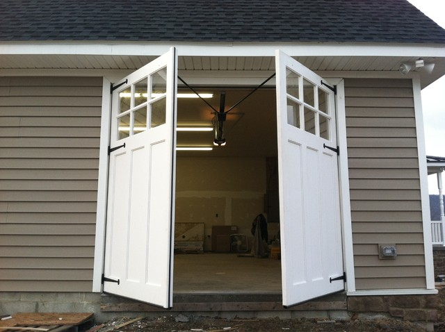 Carriage Doors Traditional Garage And Shed By