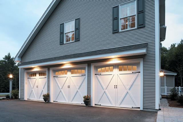 Carriage House Doors Traditional shed